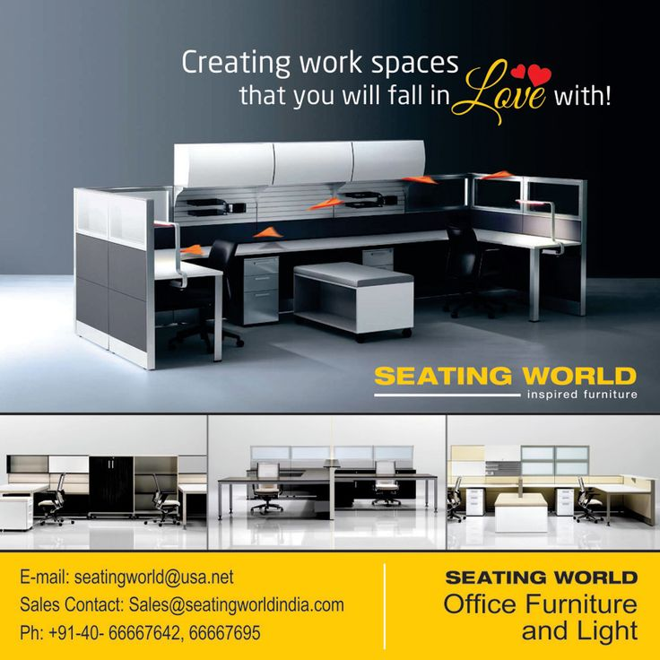 Creating Work spaces that you will fall in Love with!  #HappyValentineDay #ValentineDay #Valentine   SEATING WORLD: Office Furniture and light.  E-mail: seatingwold@usa.net Sales Contact: Sales@seatingworldindia.com Ph: +91-40-66667642,66667695