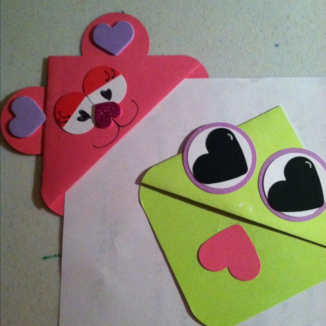 valentine fun corner bookmarks