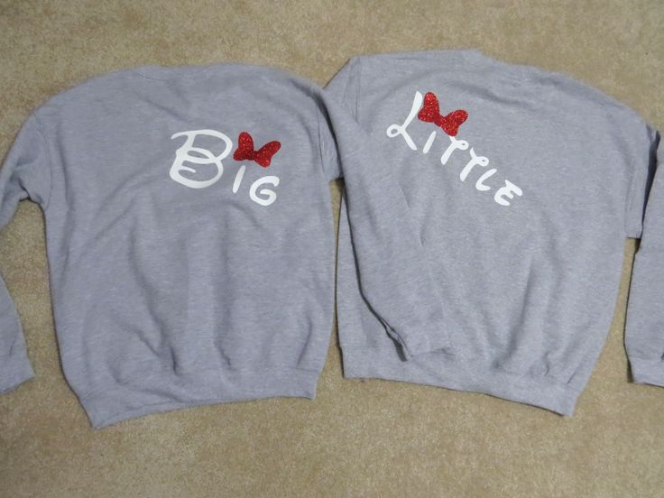 Big & Little Disney Crewnecks- an amazing sister made this for my little and I :)