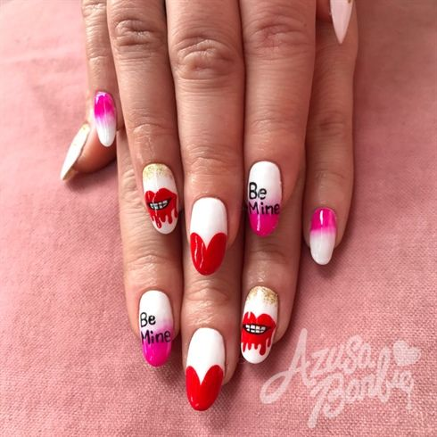Be Mine by azusa from Nail Art Gallery