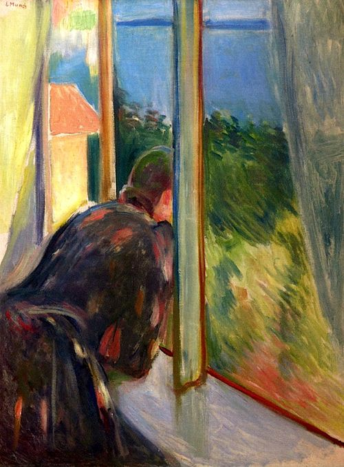Inger by the Window, 1892 -  Edvard Munch (Norwegian, 1863-1944) Expressionism