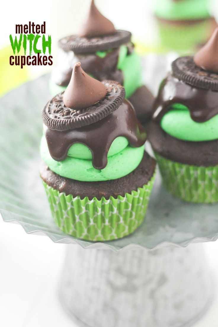 these melted witch cupcakes are a fun twist on one of my most popular halloween treats - Popular Halloween Themes