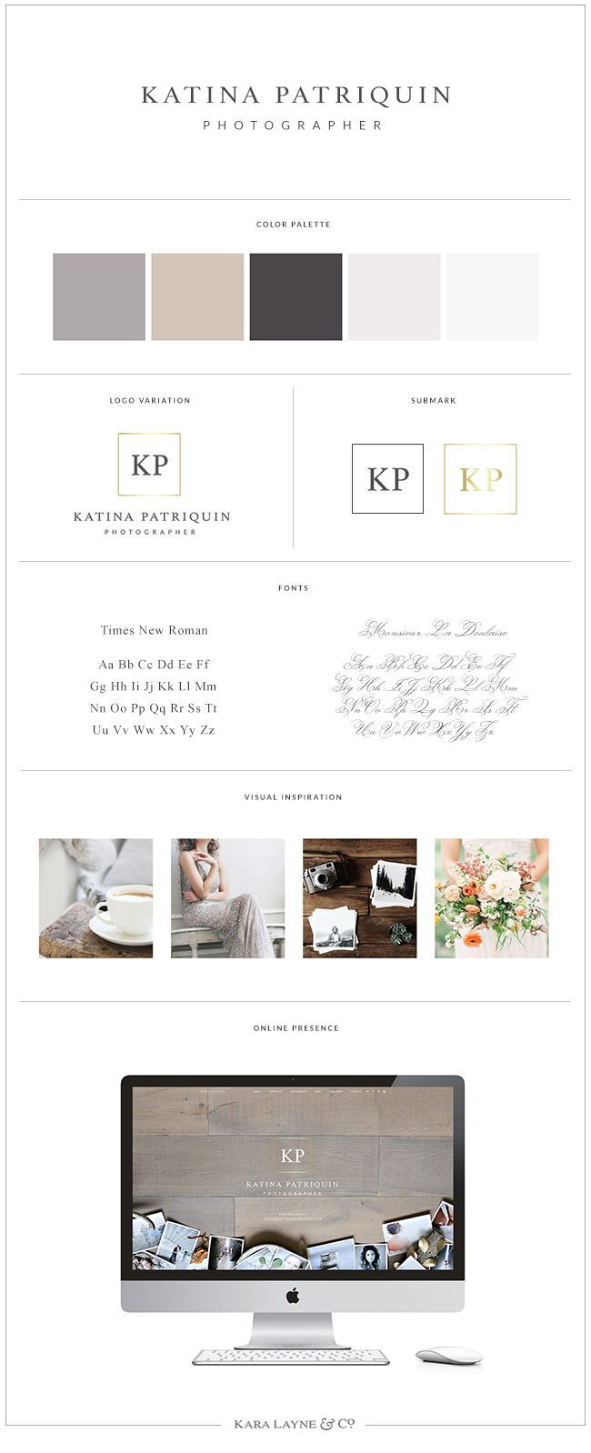 Logo Design and Brand Styling for Katina Patriquin, Arizona photographer   KaraLayneAndCo.com