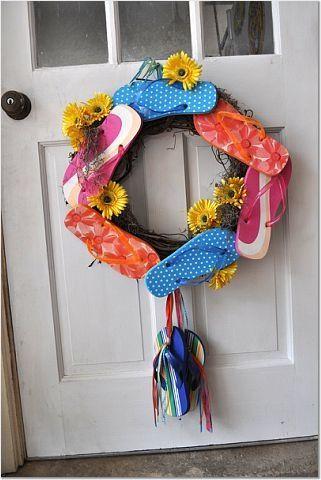 Flip flop wreath - good for beach house, lake house...