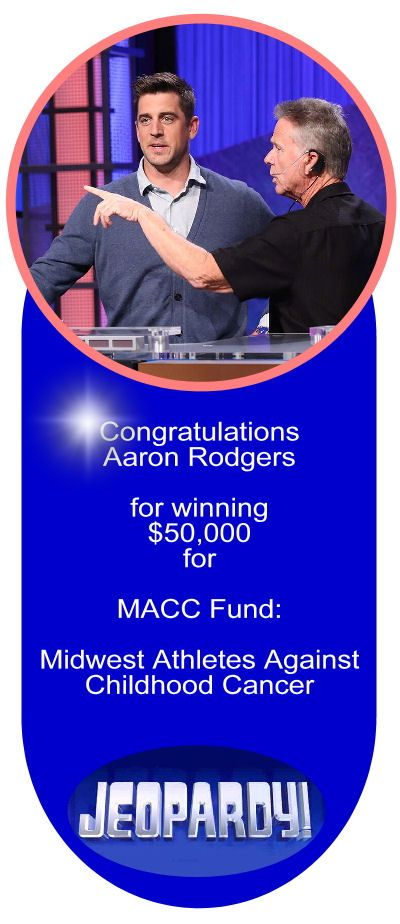 Aaron Rodgers winner on Celebrity Jeopardy!