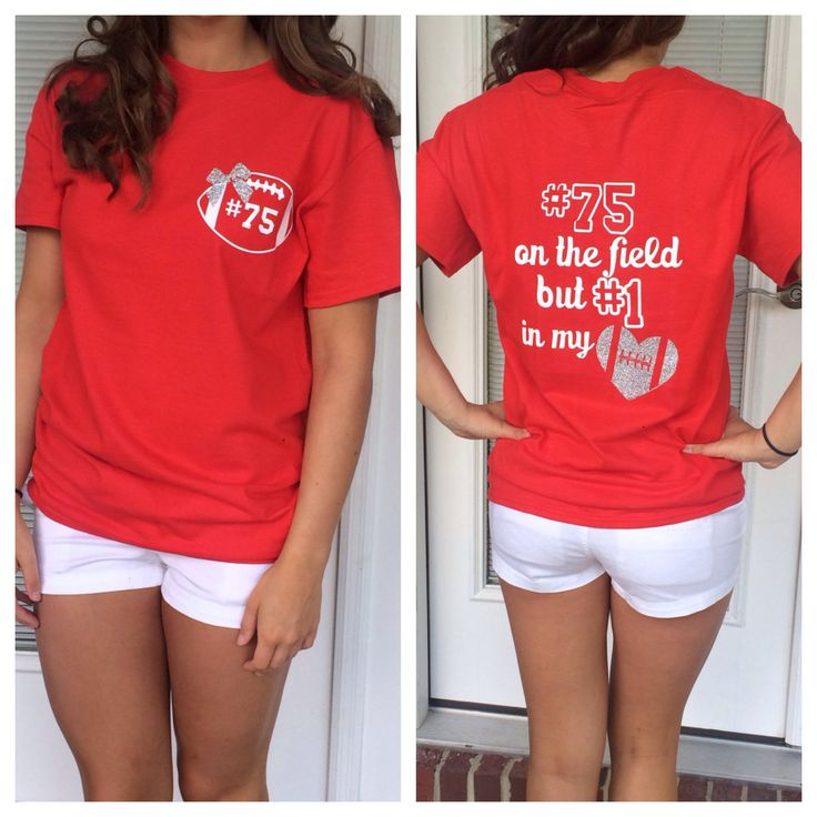 Football Girlfriend Shirt by GlitterDazzleShine on Etsy