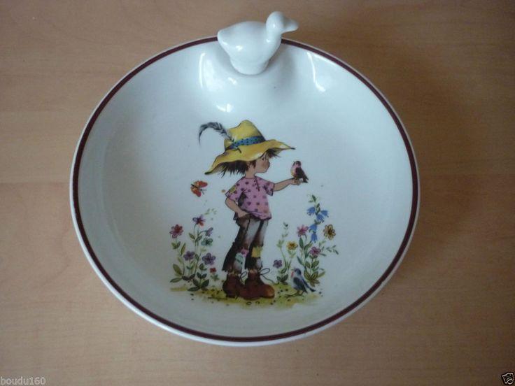 Assiette a bebe ou bouillie en porcelaine de limoges for Lavabo ceramique ou porcelaine
