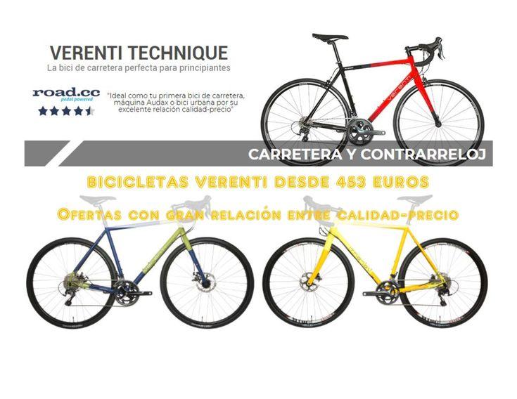 Obtén algunas de las Bicicletas Verenti con descuentos disponibles en Wiggle, Una marca propia con gran relación entre calidad y precio que te permite acceder a una gran máquina desde 453 euros. Conoce más detalles aquí.
