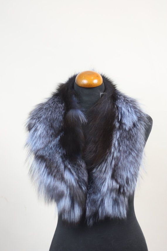 Luxury gift/Fox Fur/ Blue Collar  Women's/wedding or by skffurs