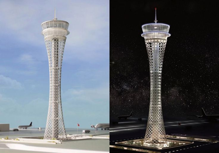 World's Top Designers Compete for the Airport Traffic Control Tower of the New Istanbul Airport Moshe Safdie inspired from Ottoman geometrical patterns.