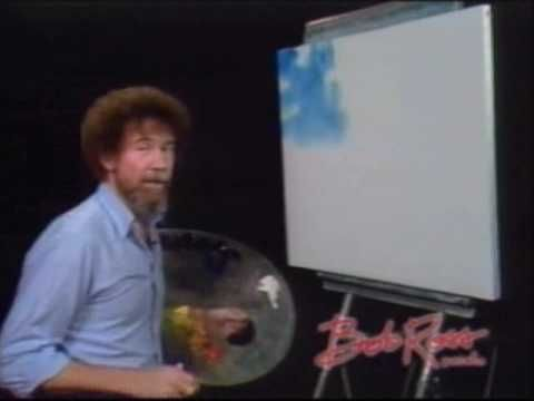 Bob Ross: Painting A Sky...love him, watched his show every Saturday ♥