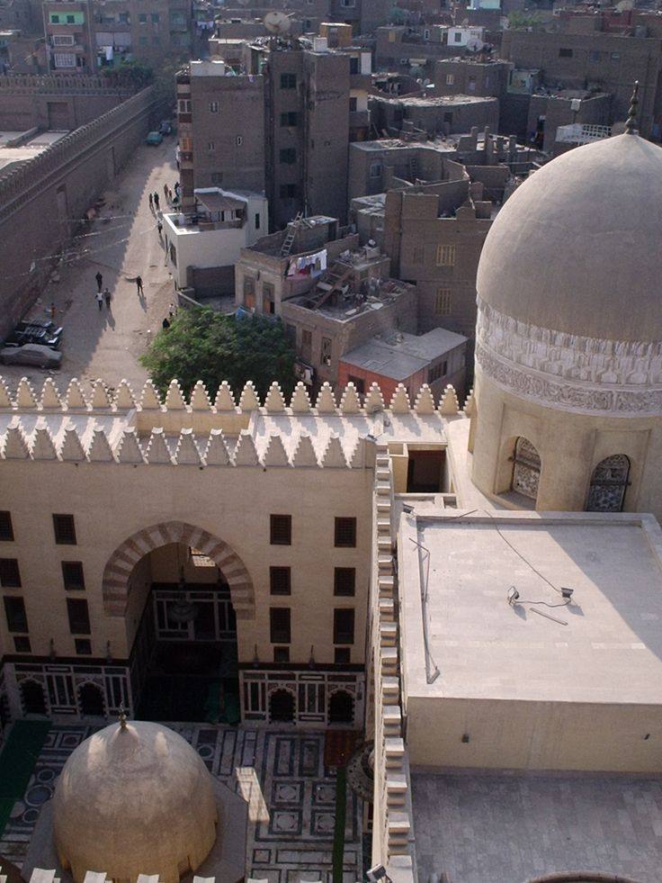 Islamic Cairo - looking down into mosque square