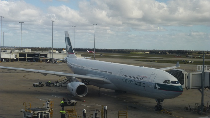 Cathay Pacific A330-300 to Hong Kong. 2012