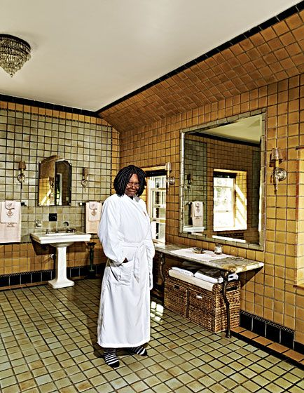 Whoopi Goldberg in the bathroom of her NJ residence. Photo ...