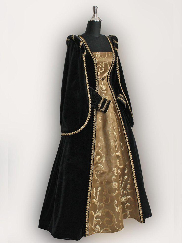 Lovely Black And Gold Wedding Dress
