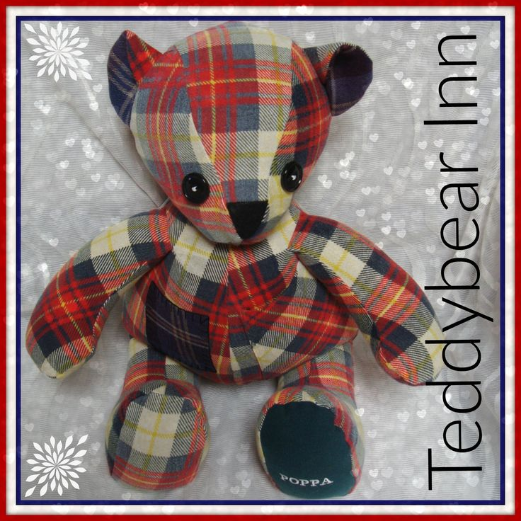 Memory bear created from the flannelette shirt of a loved and missed father and grandfather.