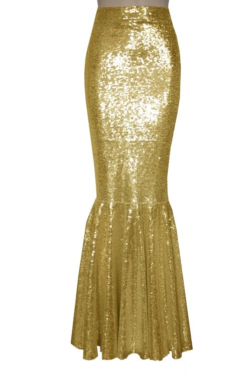 991eae3d9 Gold sequin mermaid skirt. Bridesmaids mix and match bottoms. Fishtail  wedding skirt. Plus size metallic outfit.