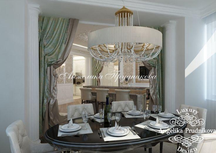 Дизайн проект интерьера квартиры в классическом стиле в ЖК Остров Фантазий - фото