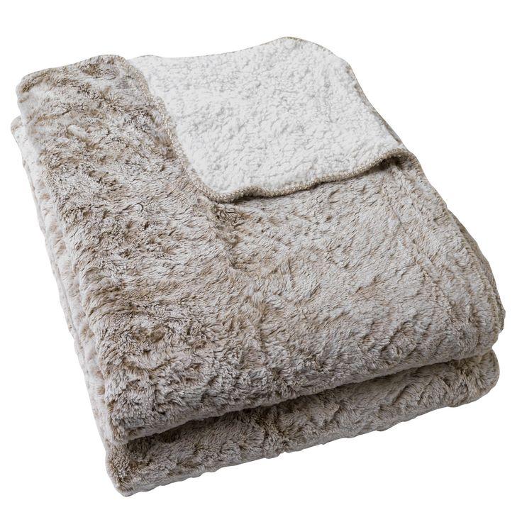 Plaid / Jeté de lit réversible 180x230cm - Hima - Les plaids-Textiles et tapis-Salon et salle à manger-Par pièce - Décoration intérieur - Alinea