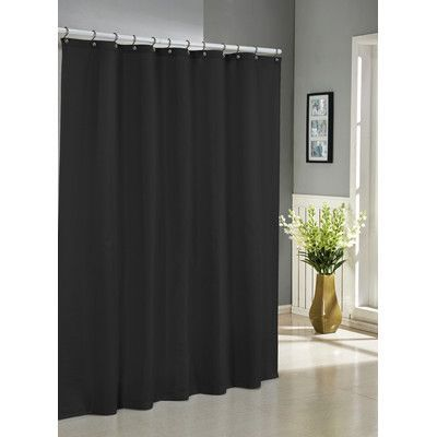 Three Posts Albion Jacquard Shower Curtain Color: Black