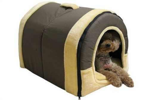 Menu Life Soft Pet Pets Bed Dog Puppy Cat Kitten Bed House Sleeping Warm Mat Cave Igloo (Coffee Canvas, Small) - http://www.thepuppy.org/menu-life-soft-pet-pets-bed-dog-puppy-cat-kitten-bed-house-sleeping-warm-mat-cave-igloo-coffee-canvas-small/