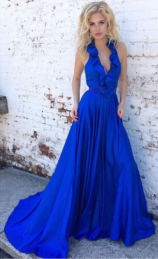 sweeping electric blue gown - 519×848