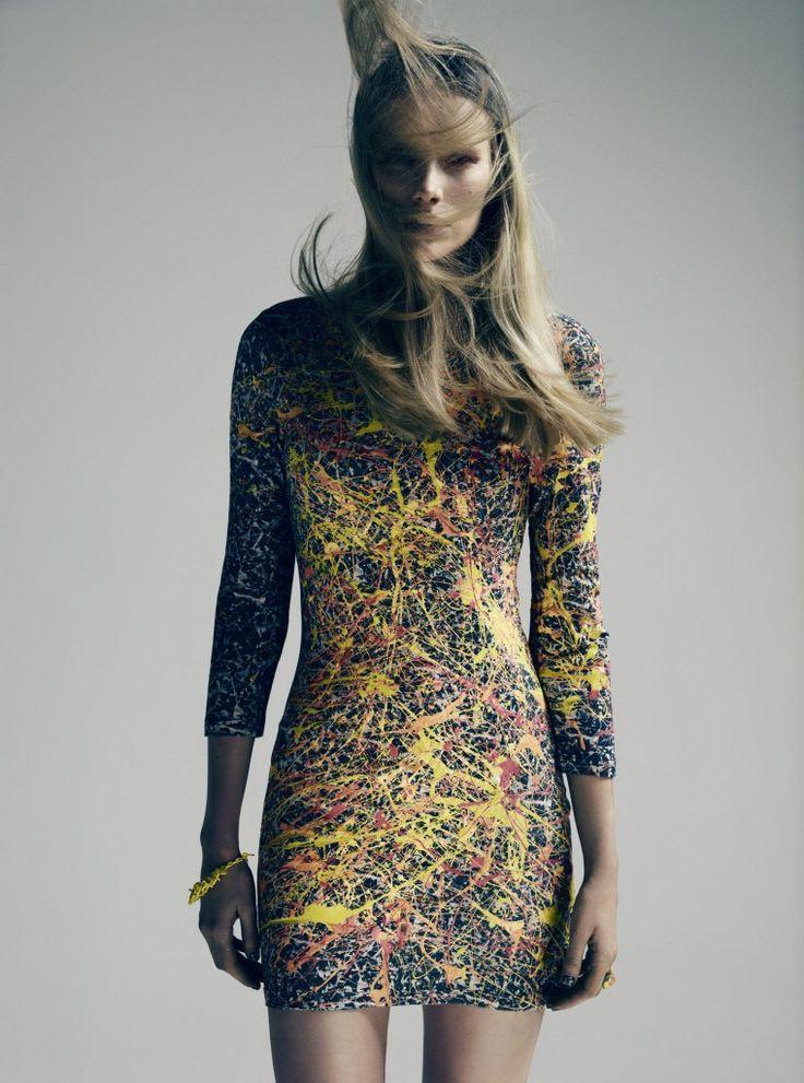 Never Denim X Jackson Pollock Dress.