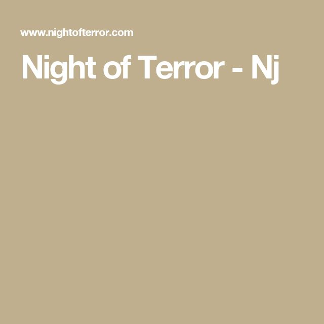 Night of Terror - Nj