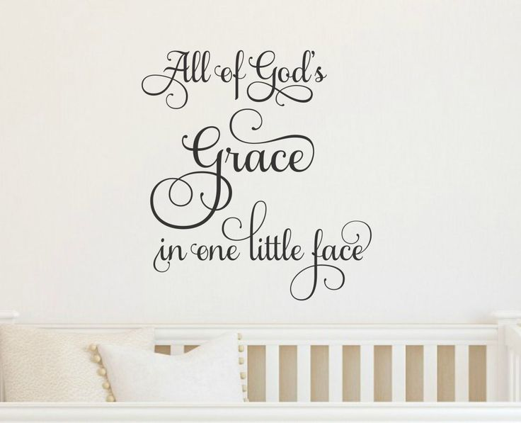 All of gods grace in one litte face wall decal nursery wall decor