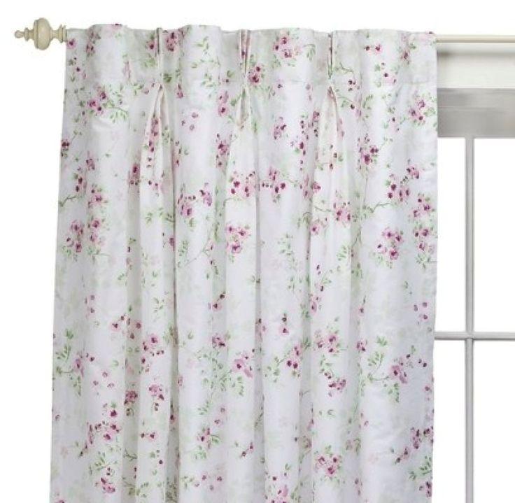 Simply Shabby Chic Rachel Ashwell Cherry Blossom Pink Roses Drape Panel Curtains