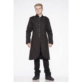 Veste Homme Gothique Victorien Steampunk Militaire Officier