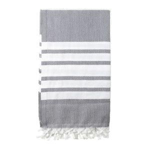 Turkish Beach Towel (in Ash Twist) / The Depot & Co.