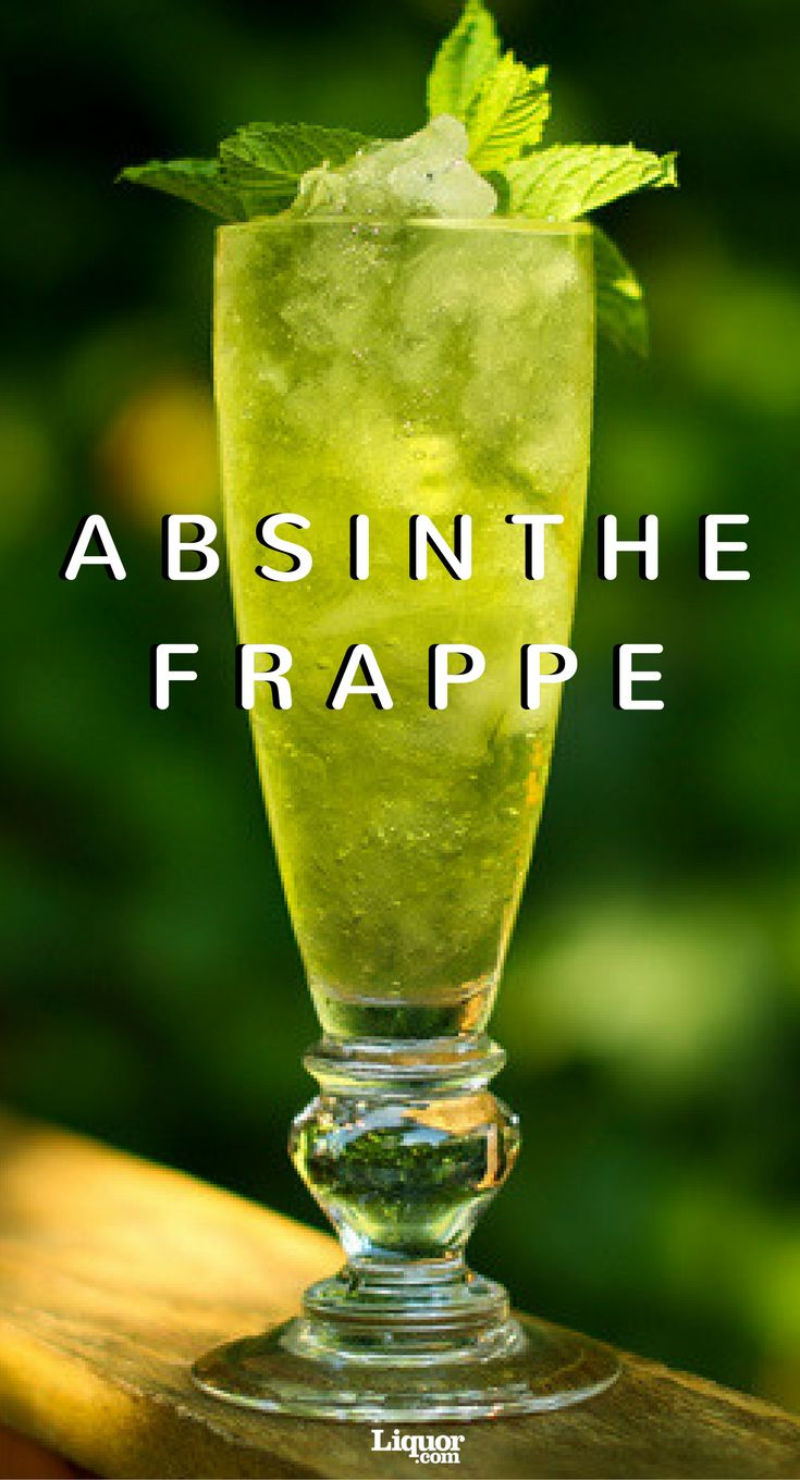 This two-ingredient absinthe cocktail is a great introduction to the green fairy. Try this one at tour next party!