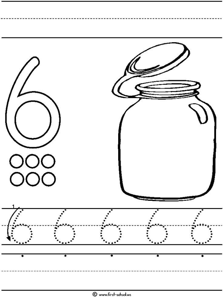 22 best number printouts images on pinterest free preschool number worksheets and preschool. Black Bedroom Furniture Sets. Home Design Ideas