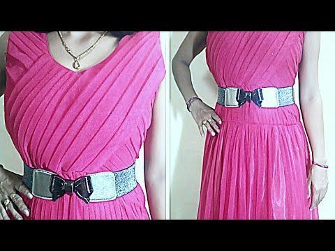 Designer Plated Long Frock Cutting and Stitching Full video - YouTube