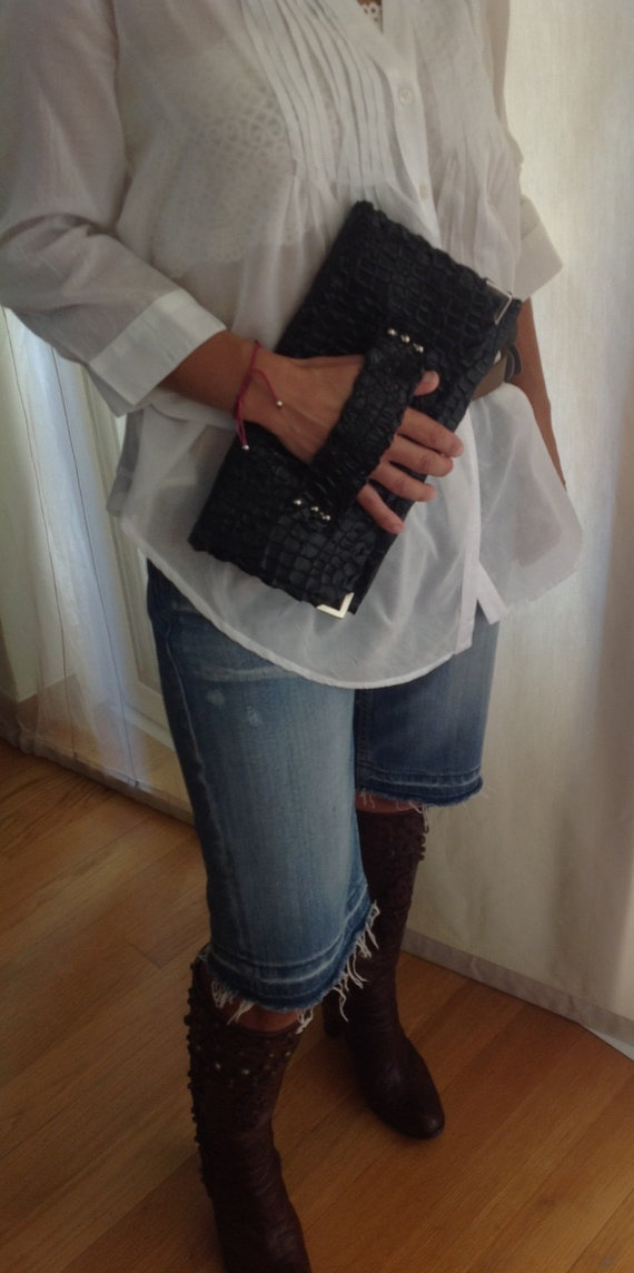 leather clutch by ElenLovelyCollection on Etsy, €40.00