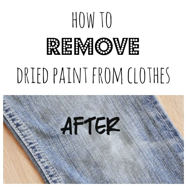 remove dried paint from clothes shared on