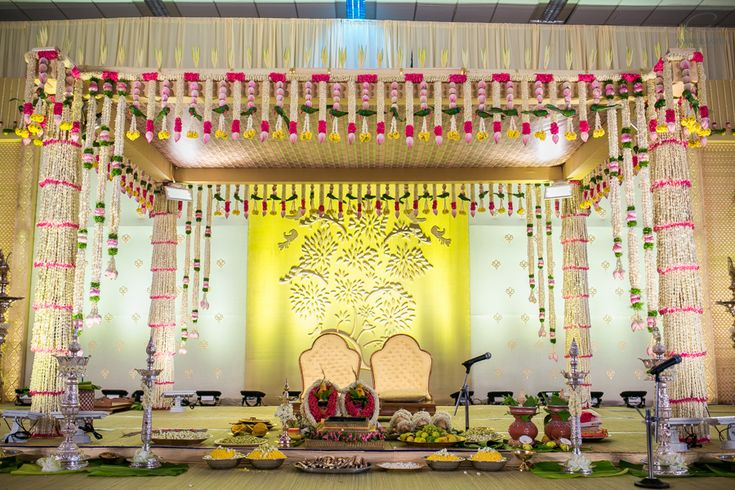 The wedding mandap