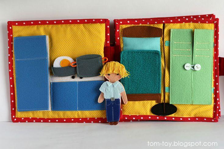 Fire station quiet busy book for boys, pretend play, развивающая книжка пожарная станция, кухня и комната отдыха