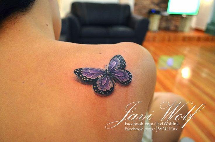 Love these colors!  Fibromyalgia Butterfly Tattoos Picture Of 3d On