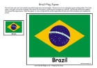 Brazil flags: printable puzzle flag