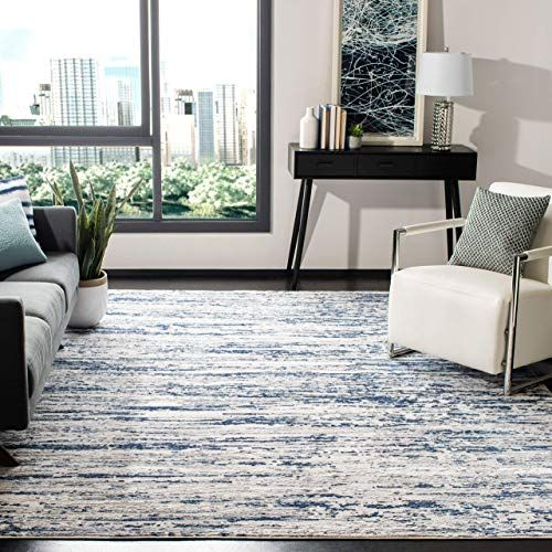 New Safavieh Amelia Collection Ala768b Grey Navy 9 X 12 Area Rug Online Shopping Topusashoppingsites In 2020 Abstract Rug Area Rugs Contemporary Living Spaces