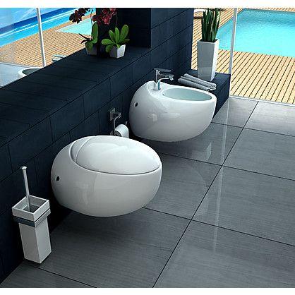 Set sanitari sospesi cupido con water e bidet in ceramica - Sanitari bagno beige ...