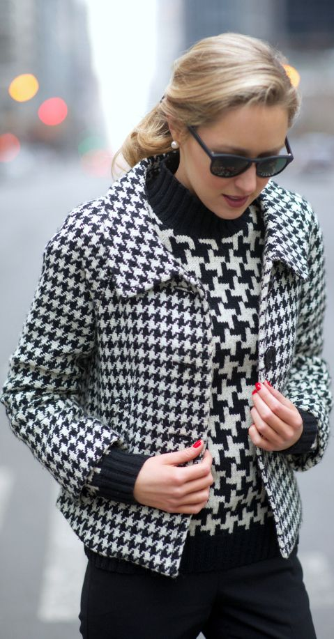 17 Best images about Houndstooth Fashion on Pinterest ...