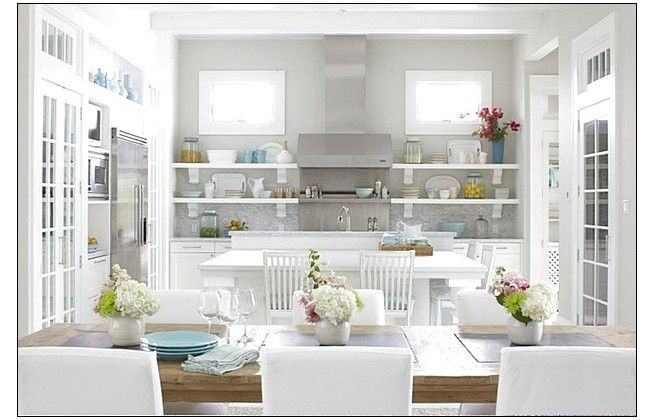 Nice Grey Kitchen With Beautiful Flower Ideas
