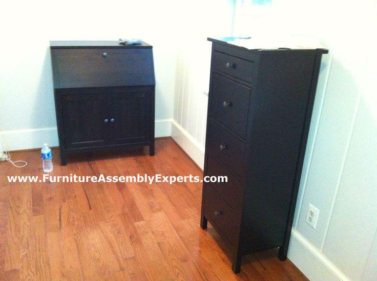 ikea hemnes secretary desk and chest of drawers assembled. Black Bedroom Furniture Sets. Home Design Ideas