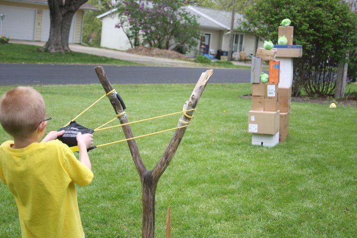 DIY Boxen + Angry Bird Hundespielzeug + hausgemachte Sling Shot (Y-Stick und ein