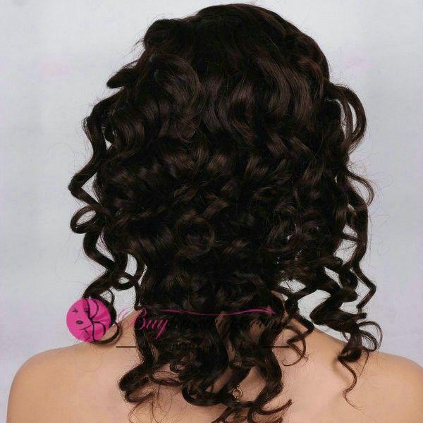 14Inch #1b Sexy Curly Quality U Part Wig