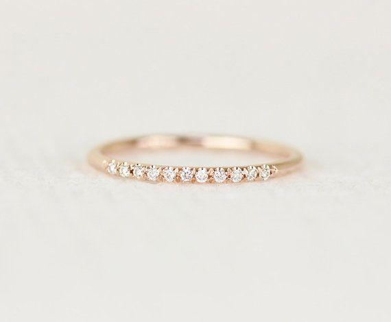 HOLIDAY SALE 14k Rose Solid Gold Diamanten Hochzeit von KHIMJEWELRY