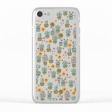 Floral Sunshines Clear iPhone Case